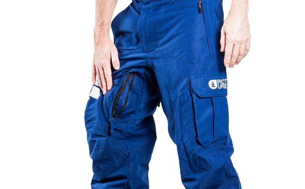 leg venting ski pants